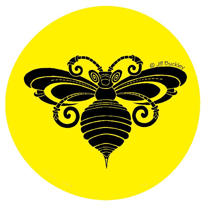 CQA -Bee-Black-Yellow-Transparent-Jill Buckley-2016-signed